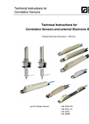 Correlation Sensors and external Electronic Box - Technical Instructions Manual