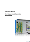 NivuFlow - Model 600 - Flow Measurement Systems for Full Pipes - Manual