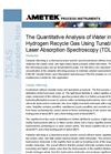TDLAS and H2O in Hydrogen Recycle Gas - Application Notes