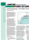LPG Processing - The Water Connection - Application Notes