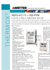 THERMOX Model WDG-IVC (500 ppm range) Flue Gas Oxygen Analyzer Datasheet