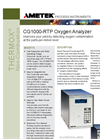 THERMOX Model CG1000 RTP Oxygen Analyzer Datasheet