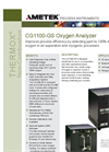 THERMOX Model CG1100 GS Oxygen Analyzer Datasheet
