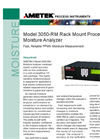 AMETEK Model 3050 RM Moisture Analyzer Datasheet