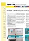 AMETEK - Model WR-888 - Sulfur Recovery Unit (SRU) Analyzers - Data Sheet