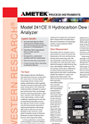AMETEK PI 241CE II Hydrocarbon Dew Point Analyzer - Datasheet