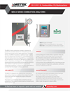 WDG-V Series Combustion Analyzers - Brochure