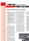 920 Multi-Gas Analyzer - Datasheet