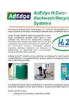 AdEdge H2Zero - Backwash/Recycle Systems - Brochure