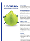 Moldex - Model 2200N95HV - High Visibility Particulate Respirator - Brochure