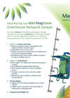 MagGrow - Greenhouse Backpack Sprayer Brochure