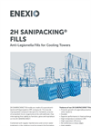 2H Sanipacking Fills - Anti-Legionella Fills for Cooling Towers - Product Profile Brochure