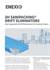 2H Sanipacking Drift Eliminators - Anti-Legionella Drift Eliminators for Cooling Towers - Product Profile Brochure