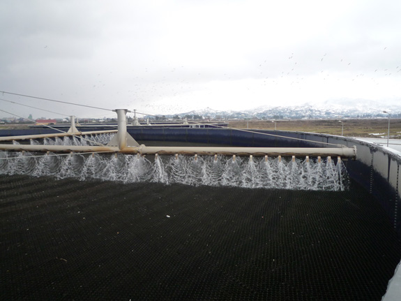WWTP in Batumi/Georgia – one of the evaluated trickling filters for the EXPOVAL project