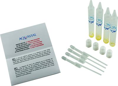 AquaVial E.Coli - Model 4-Pack - Coliform Water Test Kit