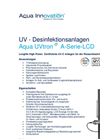 Aqua UVtron - Model A series LCD - UV-C Disinfection Units Brochure