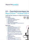 Aqua UVtron - Model A-Series-LCD-HW - UV – Disinfection Systems Brochure