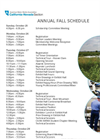 Annual Fall Schedule Brochure