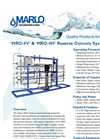 Marlo - Model MRO-4H Series - Commercial Reverse Osmosis Systems- Brochure