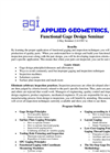 Functional Gaging Course Brochure