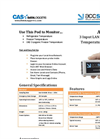 Accsense - Model A2-05 - Ethernet Temperature Data Logger Brochure