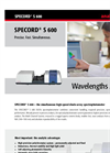 SPECORD - S 600 Diode Array Spectrophotometer Brochure