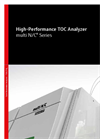 multi N/C - TOC Analyzer for the fully automatic and simultaneous analysis of the parameters TOC, NPOC, POC, TC, TIC und TNb in liquid samples
