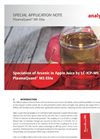 Speciation of Arsenic in Apple Juice by LC-ICP-MS on PlasmaQuant MS Elite - Special Application Note