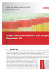 Analysis of Low Le	vel Beryllium in Urine Using the PlasmaQuant MS - Special Application Note