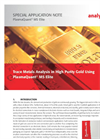 Trace Metals Analysis in High Purity Gold Using PlasmaQuant MS Elite - Special Application Note