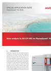 Brine analysis by HR ICP-OES on PlasmaQuant PQ 9000 - Special Application Note