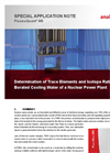 Determination of Trace Elements and Isotope Ratios in Borated Cooling Water of a Nuclear Power Plant - Special Application Note