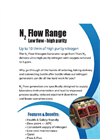 Titan N2 - Model N2 Flow Series - Medium Flow, High Purity Nitrogen Generating System - Datasheet
