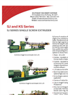Model SJ Series - Single Screw Extruders Brochure