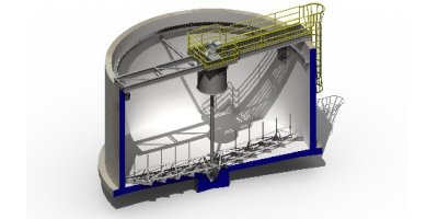 Bridge Mounted Gravity Sludge Thickener