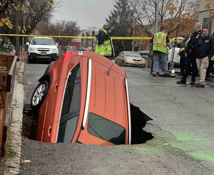 Sinkhole Swallows Car!