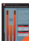 Monitoring Well & Cable Route Warning Markers – Brochure