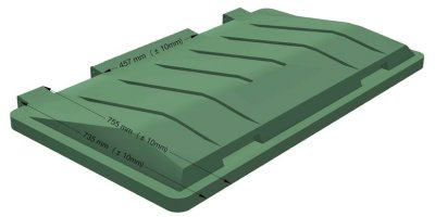 ROTOGRAN - Double Walled Plastic Lid for Waste Bins and Containers 660 and 770 Litres