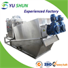 Volute sludge dewatering machine for wastewater treatment plant