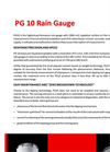 Model PG 10 - Tipping Bucket Rain Gauge - Brochure