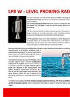 Model LPR W - Radar Wave Measurement Sensor - Brochure