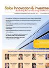 Solar Innovation & Investment USA Brochure (PDF 348 KB)