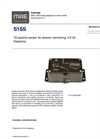 MAE - Model S1SS - 1D Seismic Sensor for Seismic Monitoring, 4.5 Hz Frequency - Datasheet
