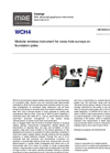 MAE - Model WCH4 - Modular Wireless Instrument for Cross-Hole Surveys on Foundation Poles - Datasheet