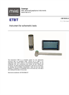 MAE - Model ETBT - Instrument For Echometric Tests - Datasheet