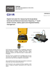 MAE - Model C311R - Digital Instrument for Measuring the Longitudinal, Torsional and Flexional Resonance Frequency - Datasheet