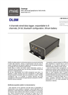 MAE - Model DL8M - 4 Channels Wired Data Logger - Datasheet