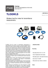 MAE - Model TLOGWLS - Wireless Heat Flux Meter for Transmittance Measurements - Datasheet