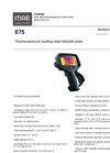 FLIR - Model E75 - Thermocamera for Building Trade 320x240 Pixels - Datasheet