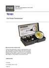 Model T0161 - Dial Pocket Penetrometer - Datasheet